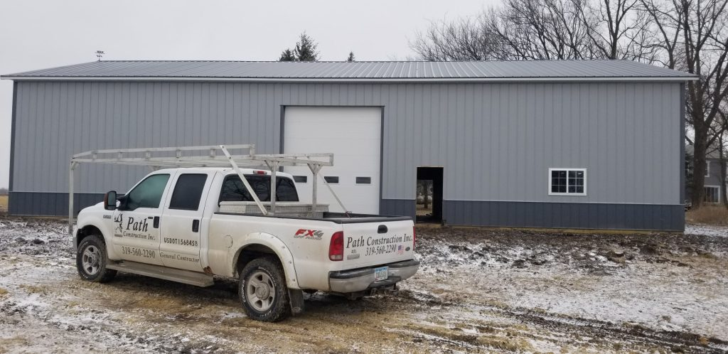Matt Path's Truck as the job winds down on the new building.