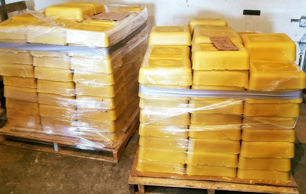 Pallet of beeswax